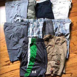 Under Armour Vans Hurley Hawk Shorts Lot Sz 8